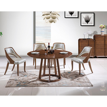 Modern Nordic Solid Wood Furniture Wooden Restaurant Round Dining <strong>Table</strong> and Chair Set for Home