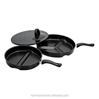 3 IN 1 DIVIDE WONDER PAN ,carbon steel fry pan