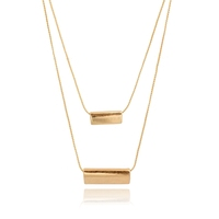 Gold tone long chain metal pendant necklace choker nacklace fashion jewelry 2016