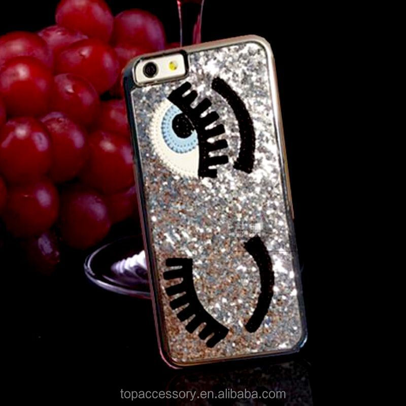 Fashion Mobile Phone Case Movement eyes with drill phone case