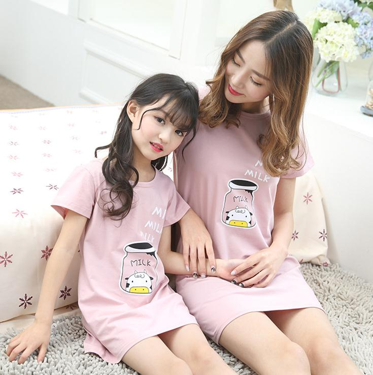 X62280A Latest design mother and child dress mini night dress