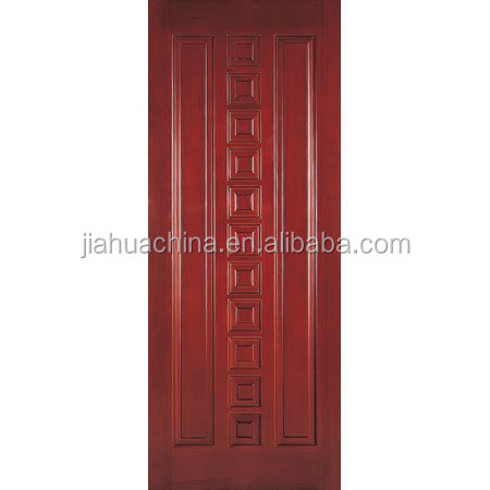 China Manufacturer Modern and Luxury Wood Swing Solid Rubber Wood Double Paneled Interior Door Design
