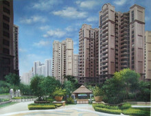 Hot Seller Oil Painting Building With The Competitive Price