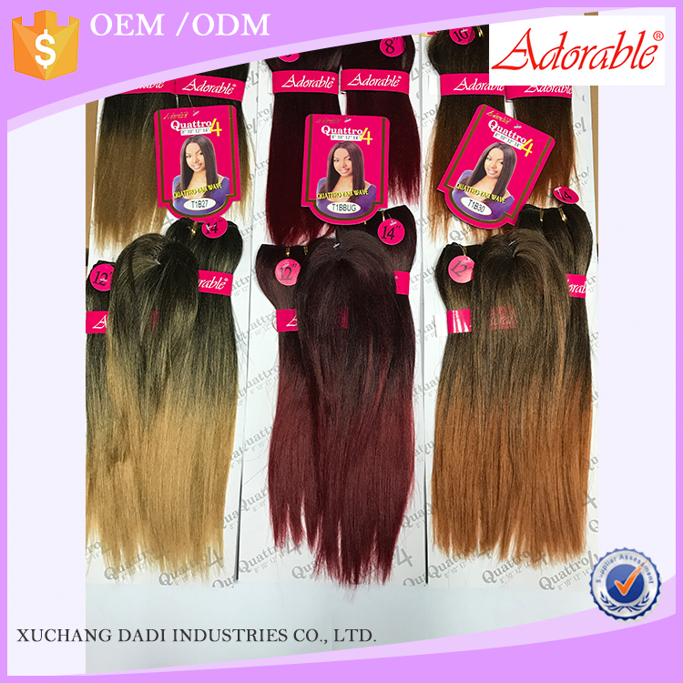 New Product Yaki Wave Synthetic Hair Weaves For Black Women Weave