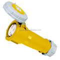 Industrial Power Male Yellow Plug and Socket CEE 013L-4 16A 2P+E 110V IP44