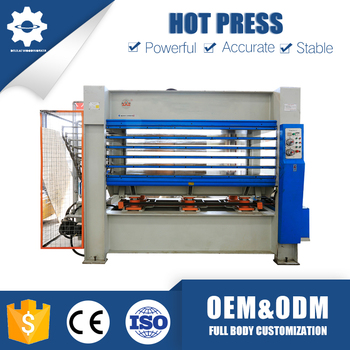 Customizing multi-layer six roller plywood hot press machine for wooden door pressing