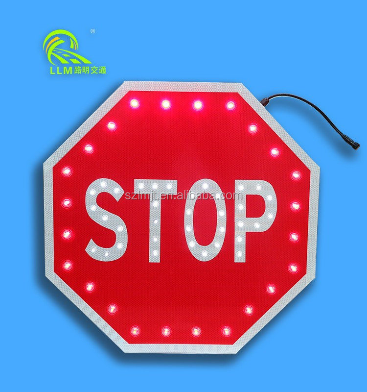 Top quality waterproof EGP reflective aluminum solar powered LED traffic road sign