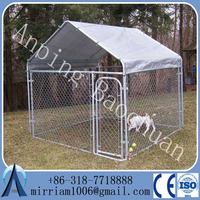 outdoor big clamp connector dog runs dog kennel, dog kennels cages