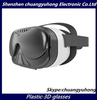 New 3D Glasses Virtual Reality OEM brand /logo for iphone 6 case big lens HD movies cheap side by sides