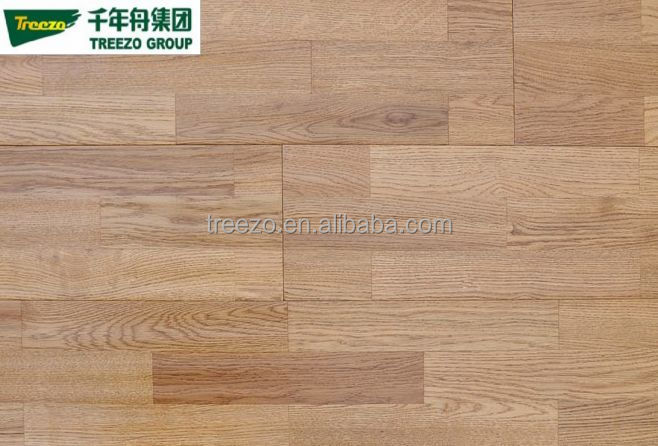 3-strip white oak engineered wood flooring