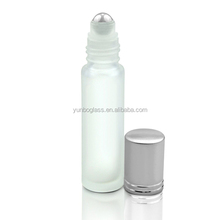 10ml roll on glass bottles essential oil roller bottles steel metal roller ball fragrance wholesale