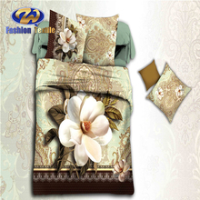 4pcs Polyester Microfiber Pastoral Household Items Bed Sheet Sets From China