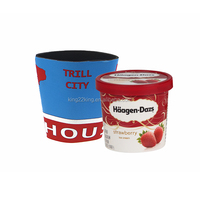 Neoprene ice cream can cooler/tube can cooler/cozy