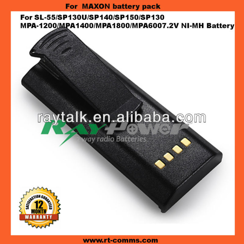 Battery factory for Walkie Talkie Maxon SP140 battery&NI-MH 2500mAh two-way radio rechargeable high power capacity batteries