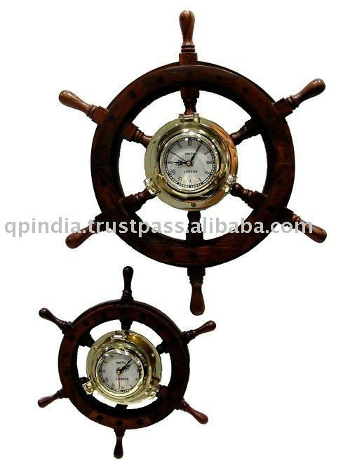 Antique wooden clock wheel