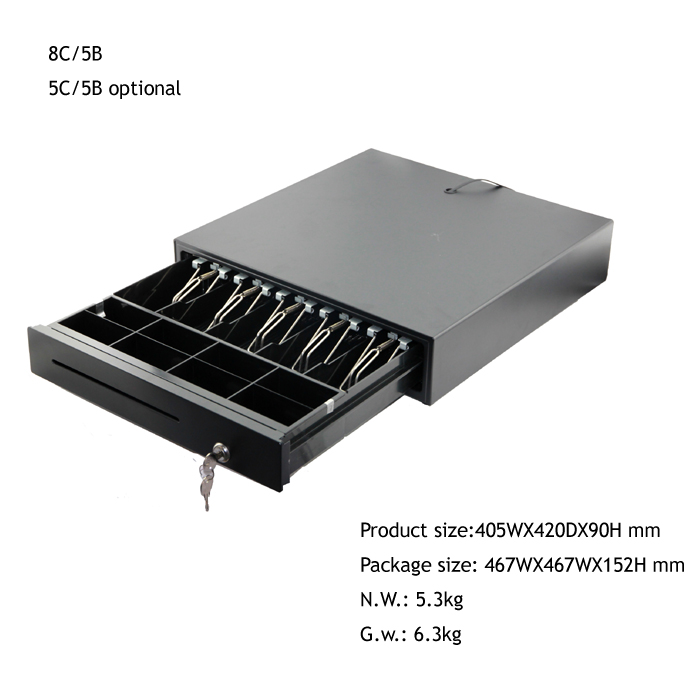 405mm safe pos cash box drawer for supermarket
