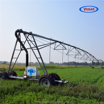VODAR Automatic Lateral Move Irrigation System with Big Gun Sprinkler and Booster Pump