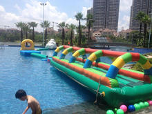 Inflatable games floating inflatable water obstacles course for sale