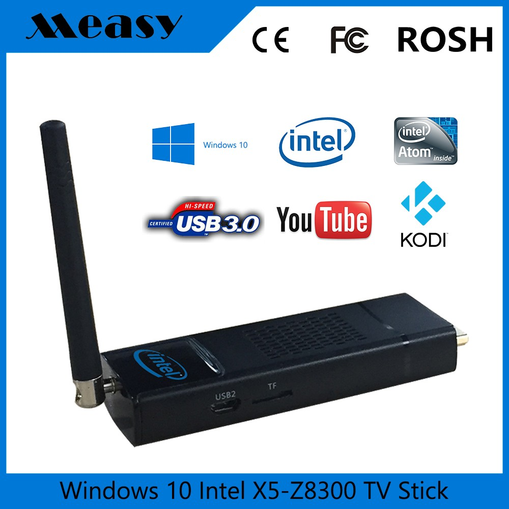 Measy T8C Intel X5-Z8300 Window 10 TV Stick Media Player Mini PC Intel TV Box 2G+32G or 4G+64G KODI WiFi