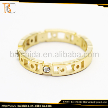 new style simple ring stainless steel yiwu market fashion jewelry