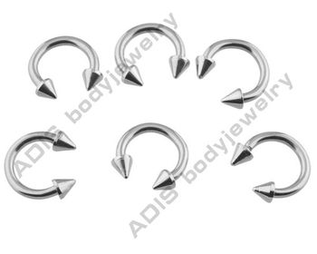G23 titanium horseshoe barbell,body piercing jewelry
