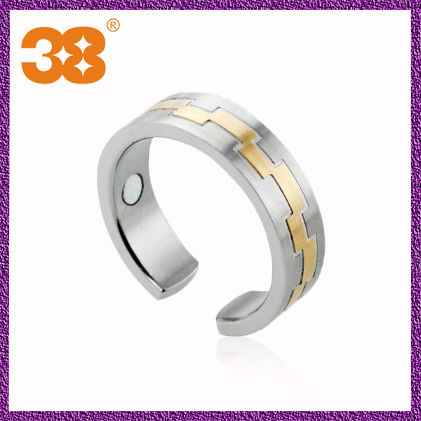 Gold wedding exquisite custom made thin 316l stainless steel ring