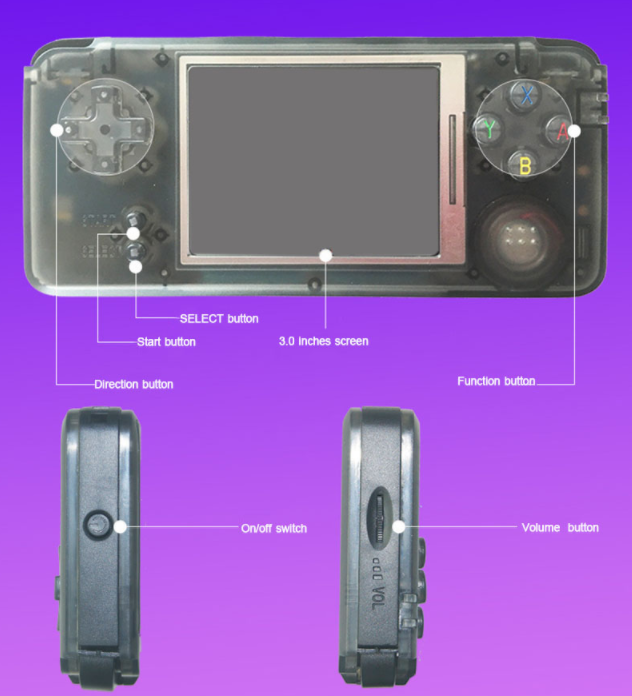 RS-97 RETRO Handheld Game Console Portable Mini Video Gaming Players MP4 MP5 Playback Built-in 1151 Childhood Games