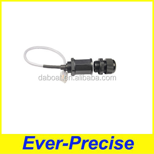 Supply waterproof 8p8c connector panel mount RJ45 waterproof connector with cat6e cable