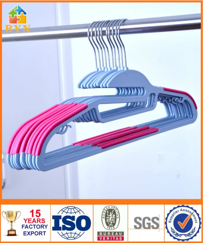 BYN clothes hanger flocking clothes hanger clothes drying rack DQ-1321