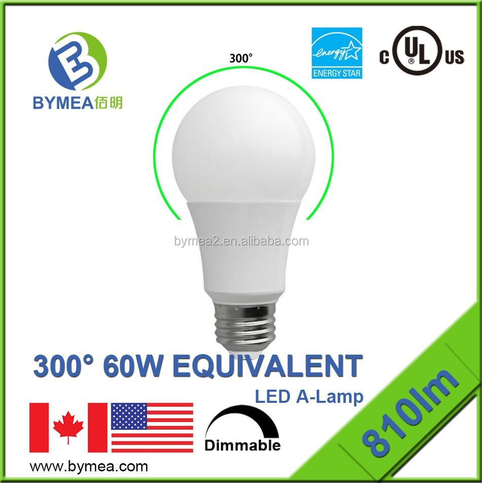 2015 promotion sell Omni Directional e26 cob led bulb/lamp Light a19 9.5w 810lm UL energy star Listed high CRI