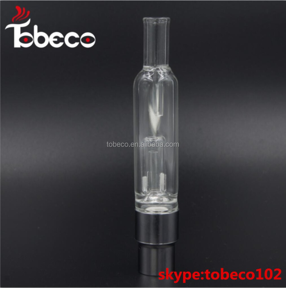 2017 Tobeco Best glass globe vaporizer pyrex clearomizer/ new glass vaporizer for wax/dry herb
