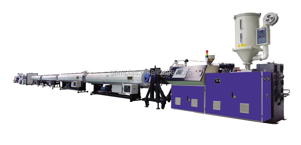 PE WATER SUPPLY PIPE EXTRUSION LINE