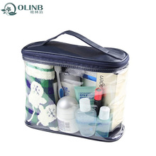 New Products 2018 Promotion Design Make Up Bag Clear Vinyl PVC Zipper Toiletry Bags With Handles