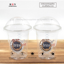 Custom Disposable PET Plastic Cold Drink Cup Plastic Juicy Cup For Restaurant Coffee Shop