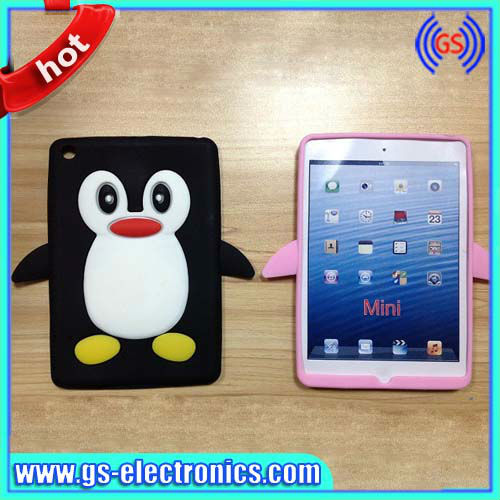 Cute Penguin Case Silicone Cover For iPad Mini Animal Shape