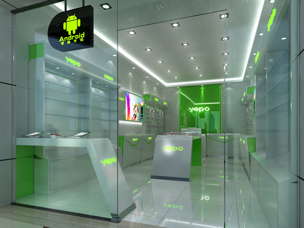 China manufacturer free design for mobile shop decoration ideas