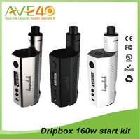 Mod vaping/ Kanger Dripbox 160 starter kit with dual 18650 battery 7ml clapton RBA base and drip coil