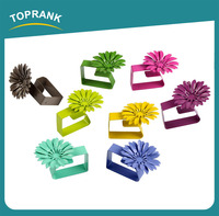 Toprank Colorful Flower Shaped Decorative Kitchen Tool Metal Tablecloth Weight Clip 4pcs Tablecloth Clip