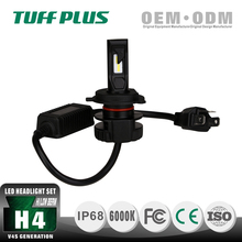 High luminance CE ROHS certificated high low beam H4 right drive led car conversion headlight kit