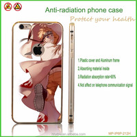Transparent mobile phone cover cartoon plastic anti-radiation phone case