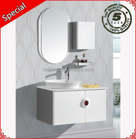 Factory price Poland style washroom furniture mirror modern bathroom vanities and cabinets