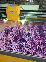 Low cost digital acrylic sheet plastic film foam board pcb wood glass flatbed uv printing machine