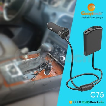 2017 new four usb car charger for backseat family charger with fast charging
