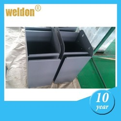 WELDONcustom conventional social public aluminum stainless trash can trash bin fabrication sheet metal fabrication