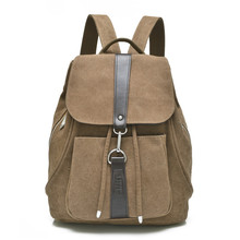 cheap vintage height 32cm black brown canvas school backpack bags