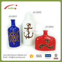 home & garden blue white red wine bottle ocean wholesale ceramic cloisonne vase