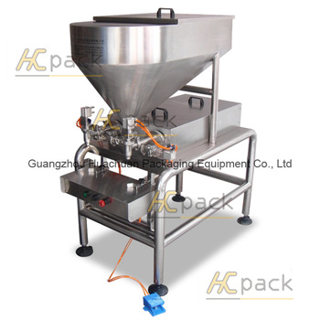 Semi-automatic tomato sauce filling machine