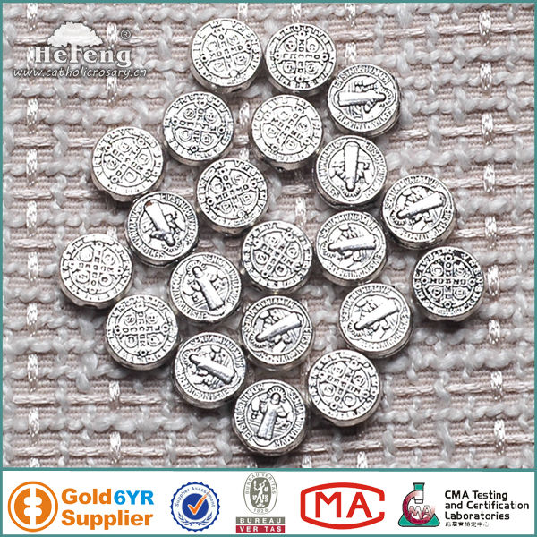 Religious Saint Benedict Alloy 10mm Beads