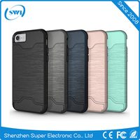 China Supplier New Products 2016 Mobile Phone Holder PC Cover Case with Card Slot for iPhone 7