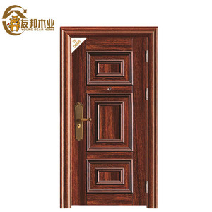 canada external safety iron single main door design with grill